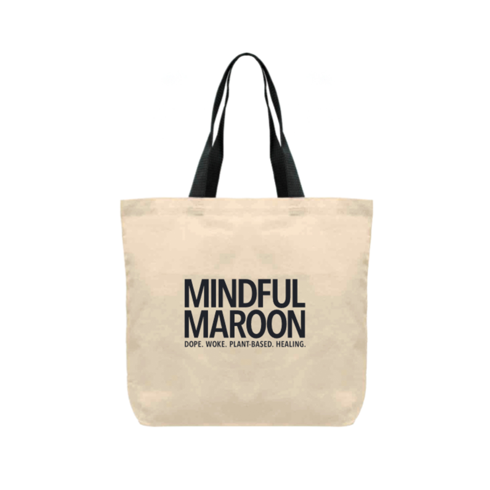 mindful maroon logo bag