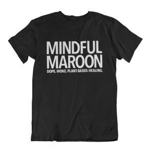 Mindful Maroon logo t